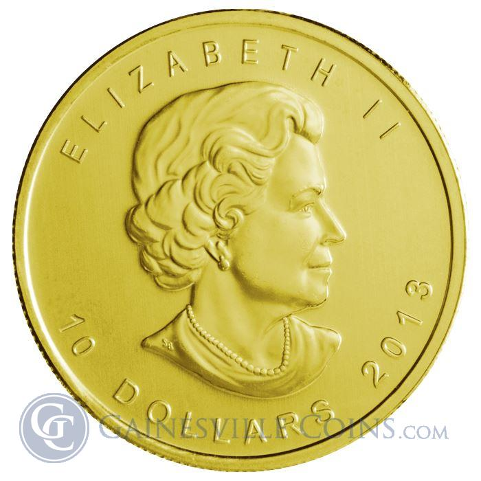 Image Showcase for 2013 1/4 oz Gold Canadian Maple Leaf Coins