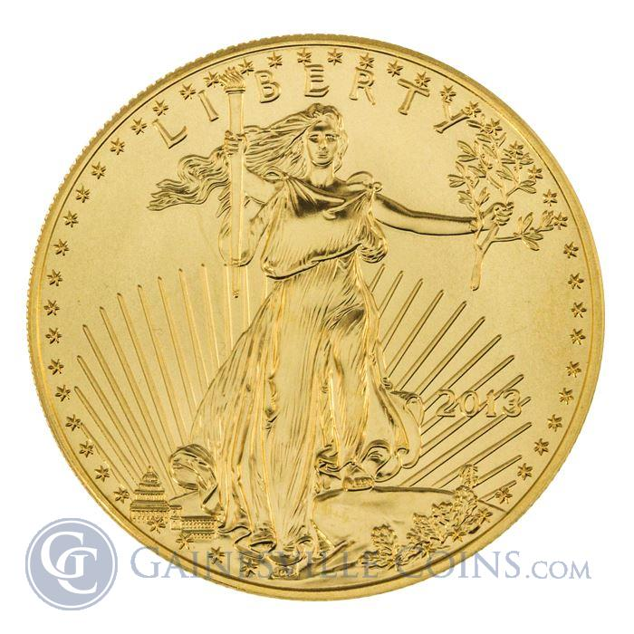 Image Showcase for 2013 1 oz American Gold Eagle - Brilliant Uncirculated Condition