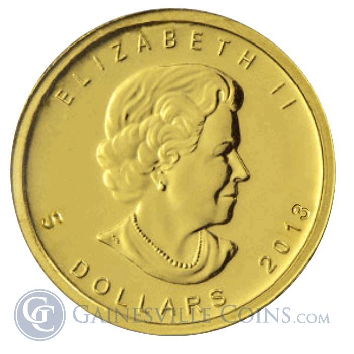 Image Showcase for 2013 1/10 oz Gold Canadian Maple Leaf  Coins