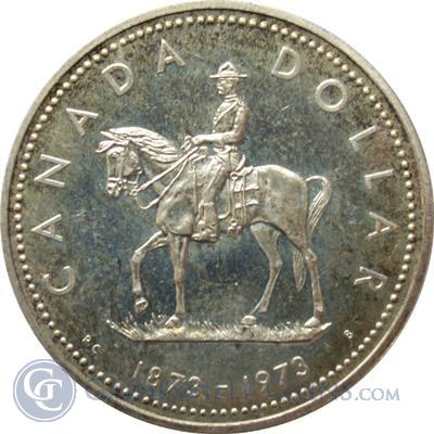1973 Canadian Mountie Silver Dollar 375 oz of Silver