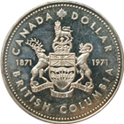 1971 Canadian British Columbia Silver Dollar (.375 oz of Silver)
