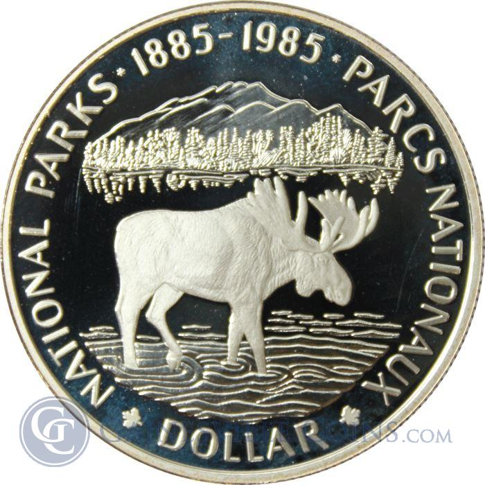 Image Showcase for 1985 Canadian National Parks Silver Dollar (.375 oz of Silver)