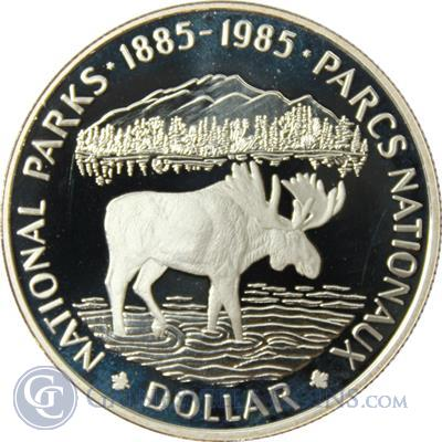 1985 Canadian National Parks Silver Dollar 375 oz of Silver