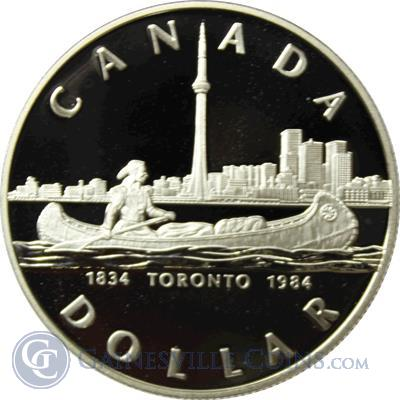 1984 Canadian Toronto Silver Dollar 375 oz of Silver