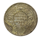India-British One Rupee Silver Coin (0.1874 oz of Silver)