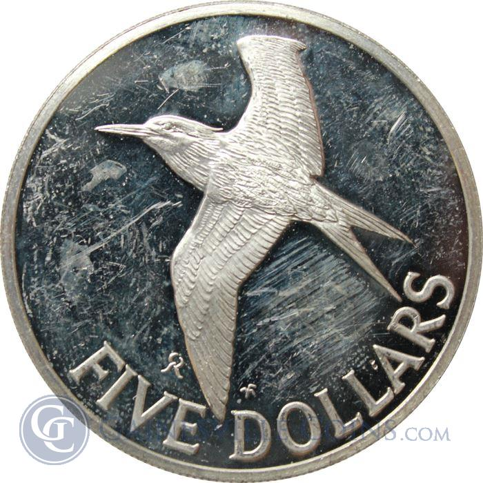 Image Showcase for 1981 British Virgin Islands $5 Dollar Proof Silver Coin (1.2044 oz of Silver)