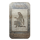 1oz Silver Art Bar - Virgo Zodiac Series .999 (National Mint)