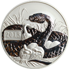 2013 Tokelau 1 oz Silver Lunar Year of the Snake (.999 Pure)