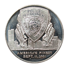 New York Police Department 1 oz Silver Art Round - September 11, 2001 (.999 Pure)