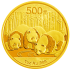 2013 1 oz Gold Chinese Panda Coins (Sealed In Original Mint Plastic)
