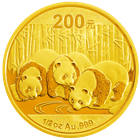 2013 1/2 oz Gold Chinese Panda (Sealed in Original Mint Plastic)