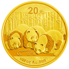 2013 1/20 oz Chinese Gold Panda Coins (Sealed In Original Mint Plastic)