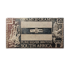 20 Gram South Africa Silver Art Bar - The Silver Mint (.999 Pure)