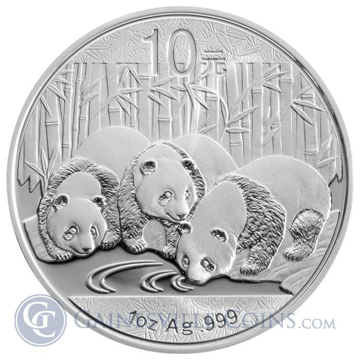 Image Showcase for 2013 1 oz Silver Chinese Panda Coins (In Capsule)