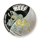 2009 1/2 oz Proof Silver Leafy Sea Dragon - Australian Sea Life The Reef