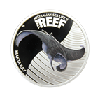 2012 1/2 oz Proof Silver Manta Ray - Australian Sea Life The Reef