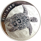 2011 5 oz Silver New Zealand $10 Fiji Taku .999 Fine