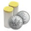 2013 1 oz Canadian Maple Leaf Mint tube of 25 Silver Coins .9999 Fine! (Brilliant Uncirculated)
