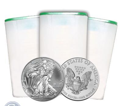 2013 1 oz American Silver Eagle Roll of 20 Coins