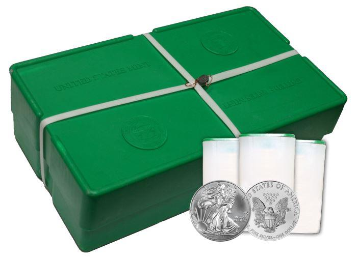 Image Showcase for 2013 1 oz Silver American Eagle (500 Coin Mint Sealed Monster Box) Brilliant Uncirculated Condition