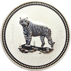 2007/2010 2 oz Australian Lunar Year of the Tiger Coin