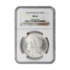 1878 7TF REV OF 78 Morgan Silver Dollar NGC MS64