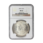 1897-S Morgan Silver Dollar NGC MS62