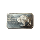 1776-1976 Bicentennial 1 oz Silver Art Bar - Buffalo (.999 Pure)