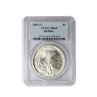 2001 D Buffalo Commemorative Silver Dollar PCGS MS69