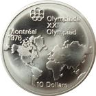 1973-1976 Canadian $10 Dollar Silver Coin - Montreal Olympics (1.4453 oz of Silver)