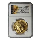 2011 1 oz American Gold Buffalo NGC MS70 Early Release - American Liberty Series