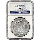 2013 1 oz American Silver Eagle NGC MS70 Early Release