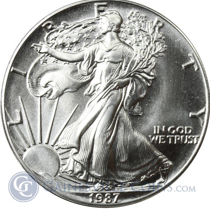 Image Showcase for 1987 1 oz American Silver Eagle