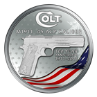 2011 1 oz Proof Silver Colt 1911 Coin - 100 Year Anniversary