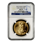 2013 $50 American Gold Eagle NGC MS70 - Early Release