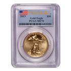 2013 $50 American Gold Eagle PCGS MS70 - First Strike