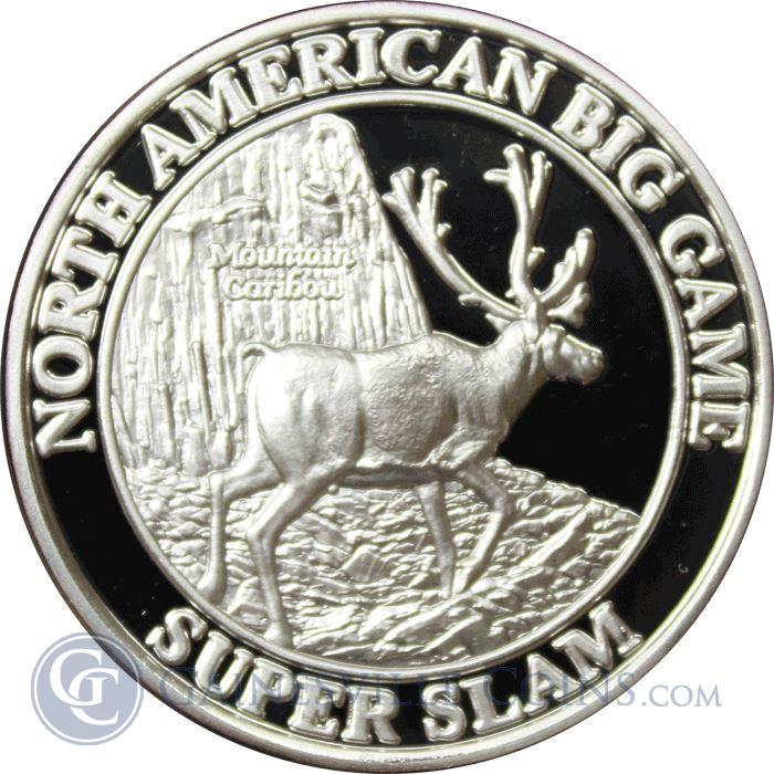 Image Showcase for North American Big Game Super Slam 1 oz Silver - Mountain Caribou (.999 Silver)