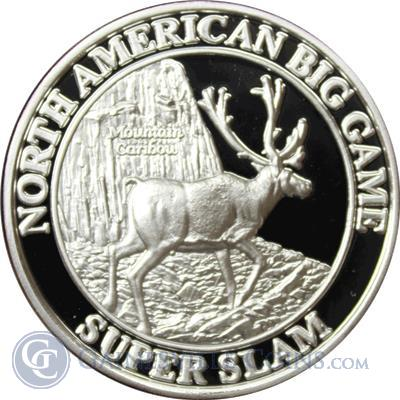 North American Big Game Super Slam 1 oz Silver   Mountain Caribou