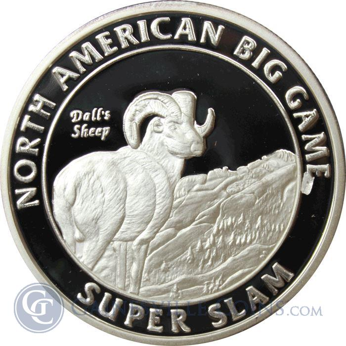 Image Showcase for North American Big Game Super Slam 1 oz Silver - Dall's Sheep (.999 Silver)