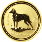 2006 1/10 oz Gold Year of the Dog Lunar Coin (Series 1)