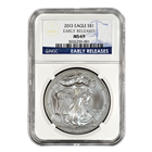 2013 1 oz American Silver Eagle NGC MS69 Early Release