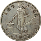 1907-1912  Philippines 1 Peso Silver Coin (.5144 oz of Silver)