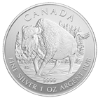 2013 1 oz Silver Canadian Wood Bison (Wildlife Series)