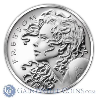 Freedom Girl Silver Bullet Silver Shield | 1 oz Silver Round