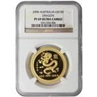 2000 1 oz Australian Proof Gold Lunar Year of the Dragon | NGC PF69 Ultra Cameo