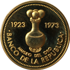 1973 Colombia 1,500 Peso Proof Gold - 50th Anniversary Gold Museum (.5527 AGW)
