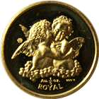 1998 1/5 oz Gibraltar Proof Gold Cherub Angel