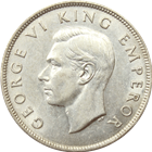 1943 New Zealand 1/2 Crown Silver Coin (.2273 oz of Silver)
