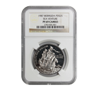 1987 $25 Bermuda Sea Venture 1 oz Proof Palladium Coin NGC PF69
