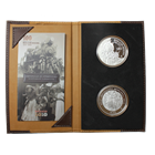 2010 2 oz Proof Silver Centennial Of The Mexican Revolution 2-Coin Set (W/ 100 Peso Commem Banknote)